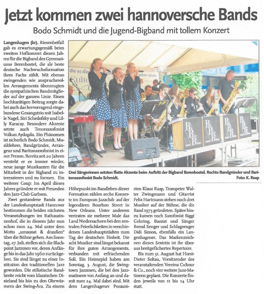 Jetzt kommen zwei hannoversche Bands