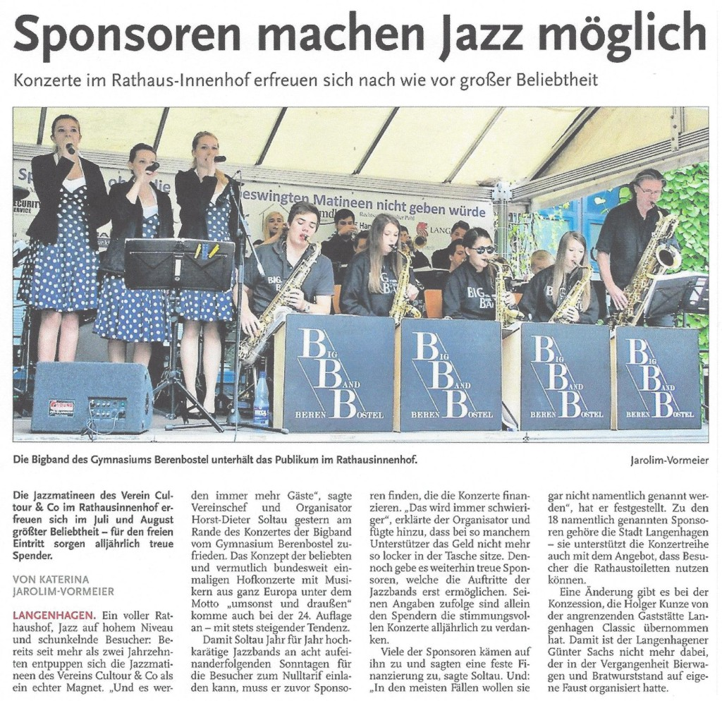 Sponsoren machen Jazz möglich