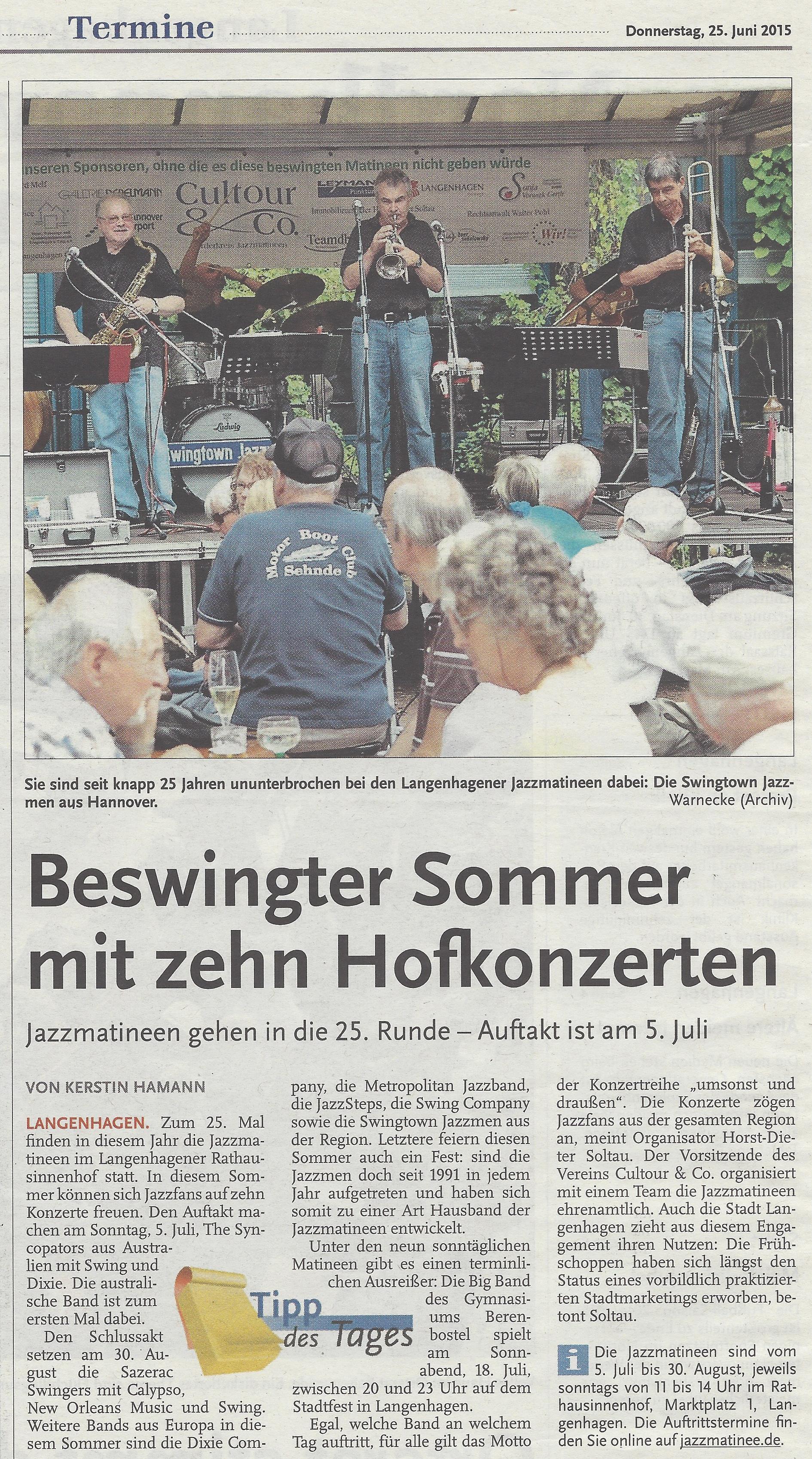 Beswingter Sommer mit zehn Hofkonzerten
