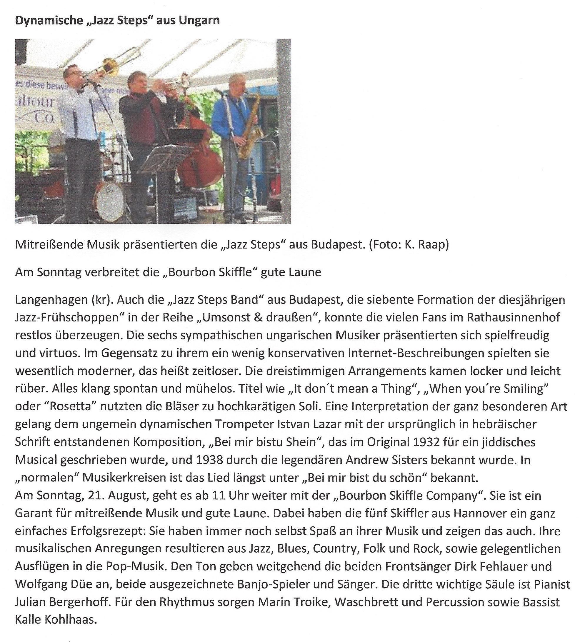 Dynamische JazzSteps aus Ungarn