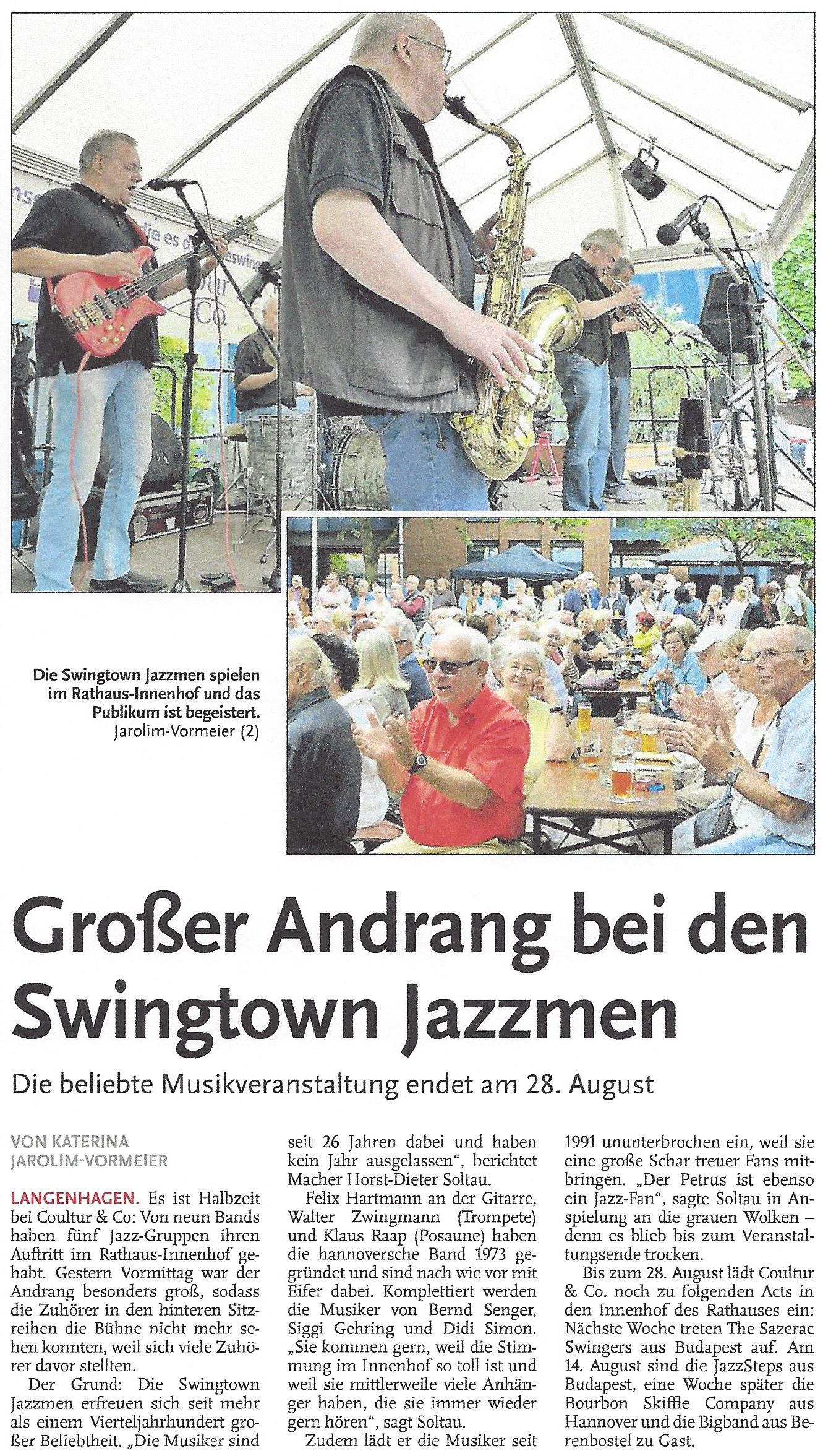 Großer Andrang bei den Swingtown Jazzmen