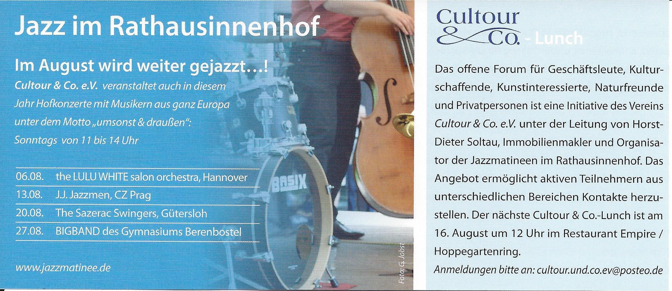 Jazz im Rathausinnenhof