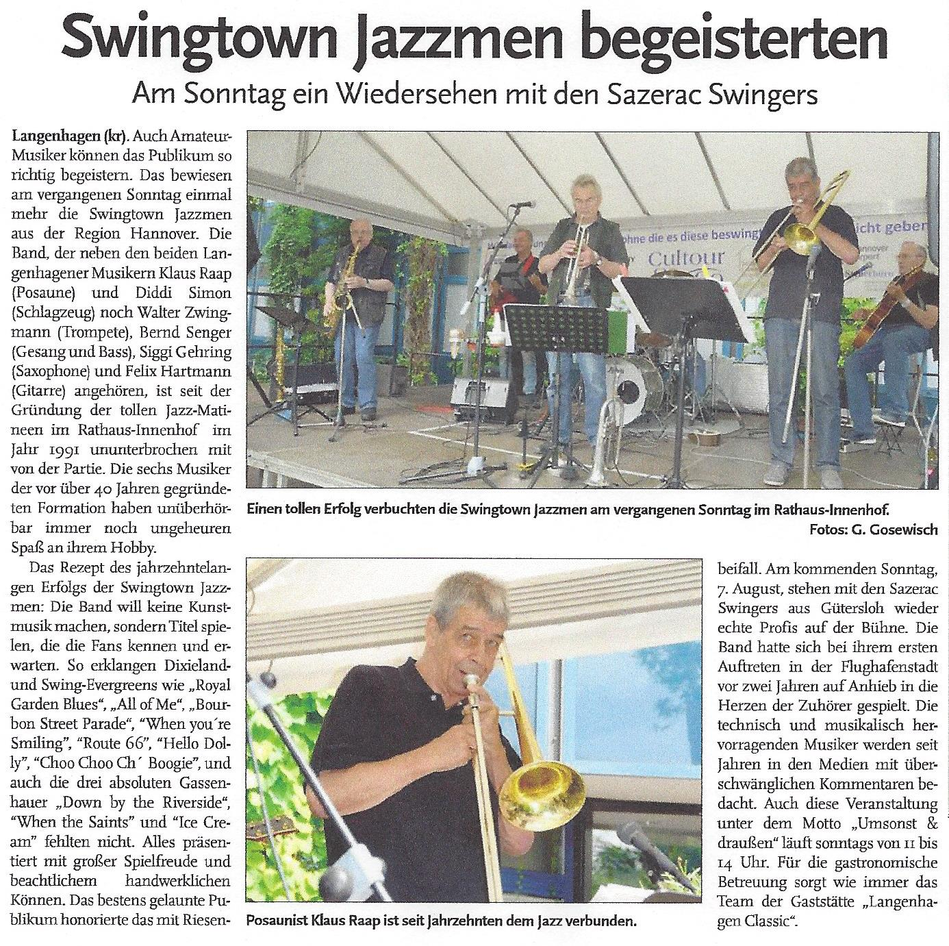 Swingtown Jazzmen begeistern