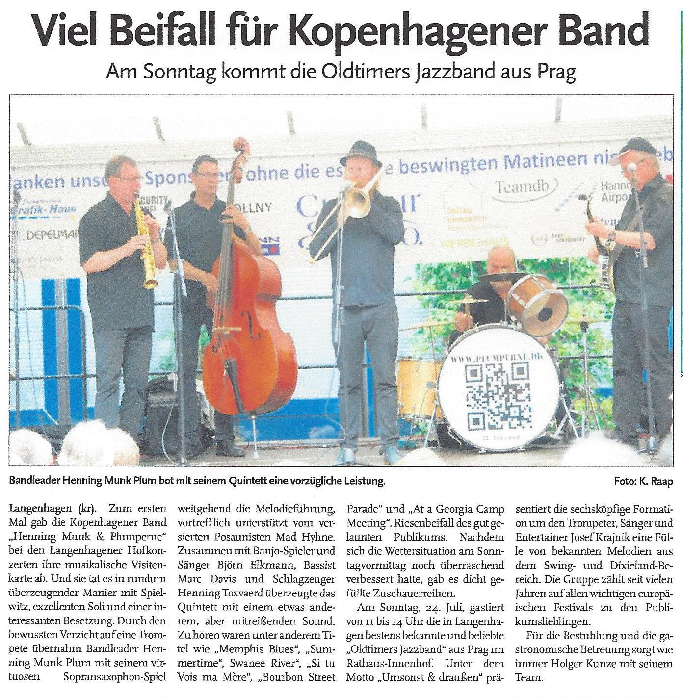 Viel Beifall für Kopenhagener Band